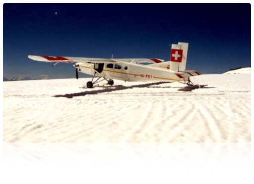 Gletscherlandung mit Pilatusmaschine