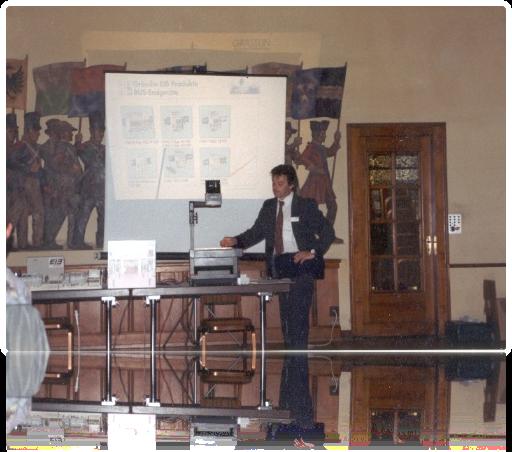 Hans als Dozent (EIB Präsentation)